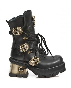 Black leather boot New Rock M.1044-C6