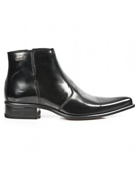 Black leather boots New Rock M.2260-C20