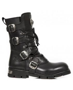 Stivali nera in pelle New Rock M.1473-C37