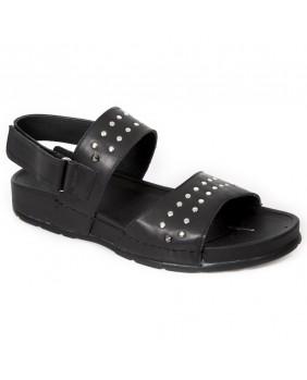 Black leather sandal New Rock M.BIO23-C1