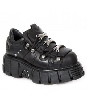Scarpe nera in pelle New Rock M.120-S1