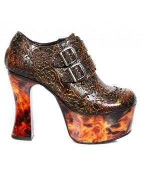 Chaussure feux en cuir New Rock M.DK020-C16