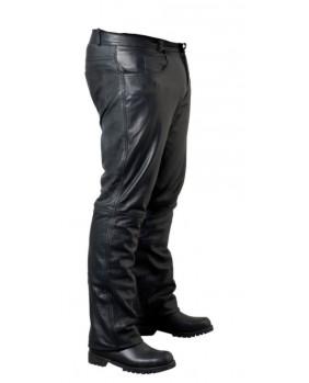Pantalon noir en cuir d'agneau
