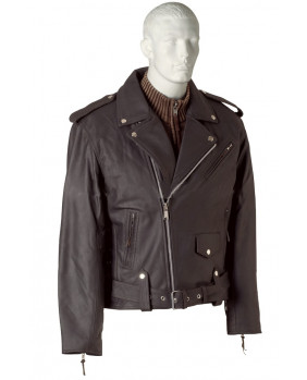 Perfecto homme cuir buffle skipper marron