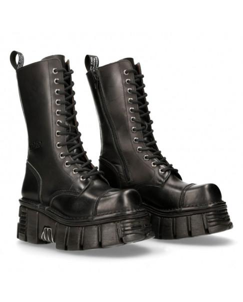 Leather Boots Military Unisex New Rock Original Platform M.MILI211-C8