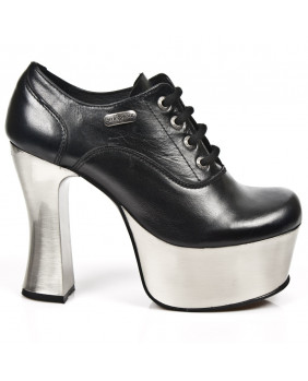 Black leather shoes New Rock M.DK004-C11