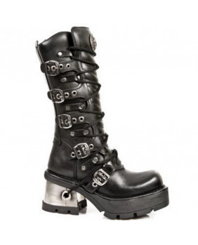 Black leather boot New Rock M.1016-S1