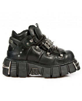 Chaussure noire en cuir New Rock M.1035-C1