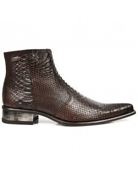 Boots marron en cuir New Rock M.2260-C70
