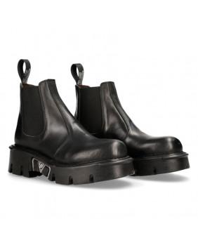 Boots noire en cuir New Rock M-1554-C5