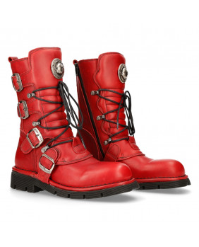 Red leather boot New Rock M.1473-S12
