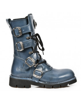 Blue leather boot New Rock M-1473-C16