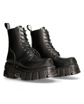 Black leather rangers New Rock M-MILI084N-C1