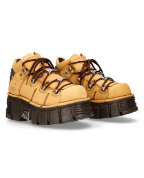 Yellow leather shoes New Rock M-106N-C29