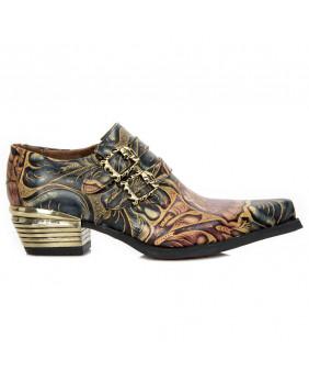 Sapato da cidade marrom en couro New Rock M-7960-S14