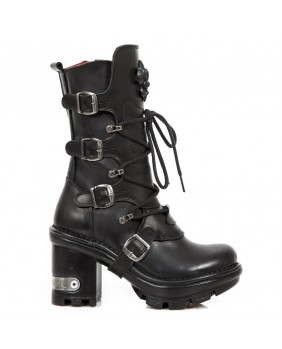 Stivali nera in pelle New Rock M.NEOTYRE05-S1