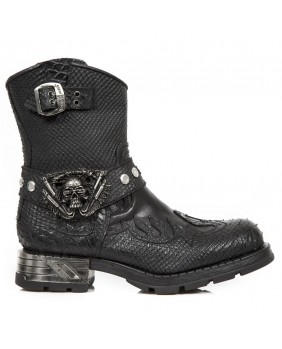 Black leather boots New Rock M.MR041-S5