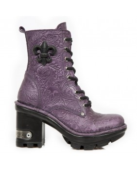 Lilac leather boot New Rock M.NEOTYRE07-C6