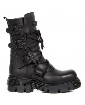 Black leather boot New Rock M.1520-C2