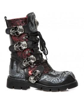 Multicolor leather boot New Rock M.373CZ-C93