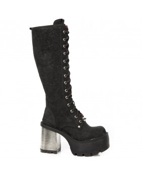 Black leather boot New Rock M.SEVE11-C2
