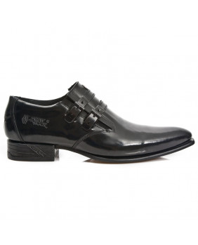 Black leather street shoe New Rock M-2246-C34